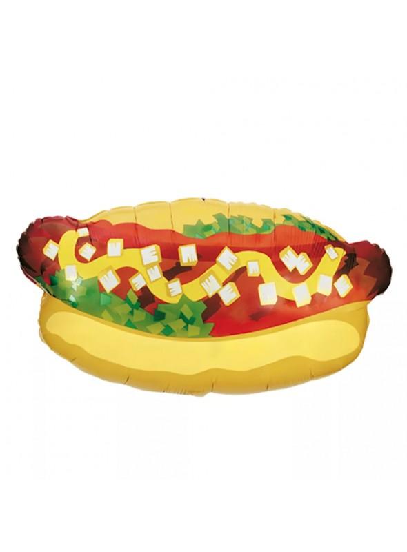 Balão Metalizado Hot Dog – 1 unidade