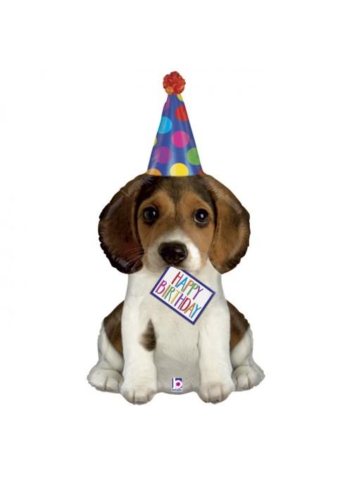 Balão Metalizado Cachorro Happy Birthday – 1 unidade