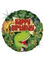 Balão Metalizado Dinossauros Holográfico Happy Birthday - 1 unidade