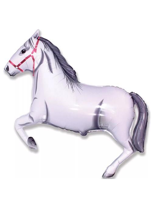 Balão Metalizado Cavalo Branco – 1 unidade