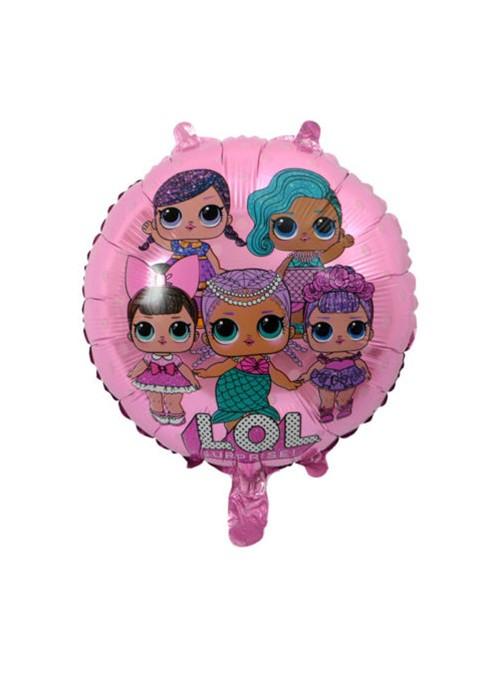Balões Metalizados LOL Rosa – 5 unidades