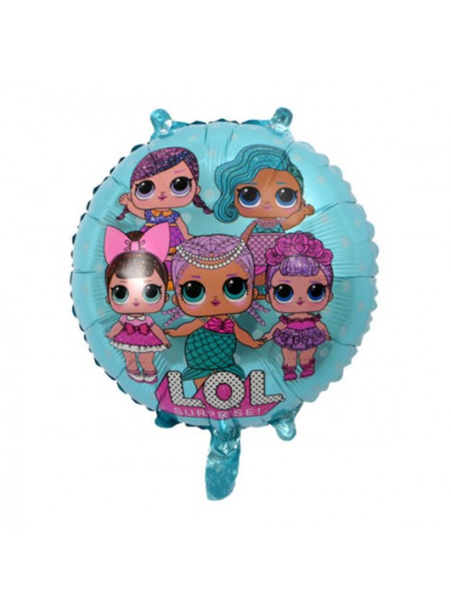 Balões Metalizados LOL Azul – 5 unidades