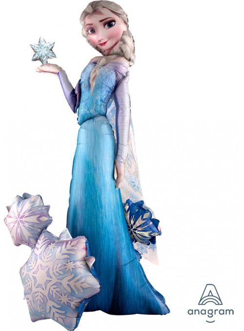 Balão Metalizado Elsa Frozen AirWalker Gigante – 1 unidade