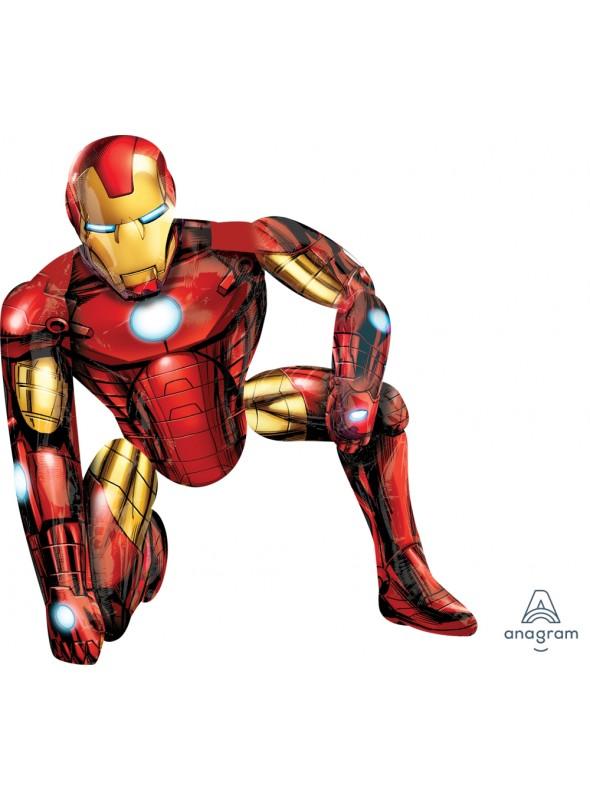 Balão Metalizado Homem de Ferro AirWalker Gigante – 1 unidade