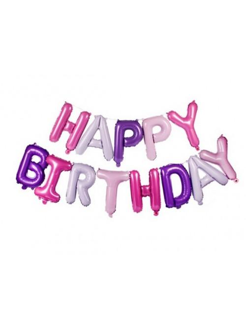Balões Metalizados Happy Birthday Degradê– 1 kit