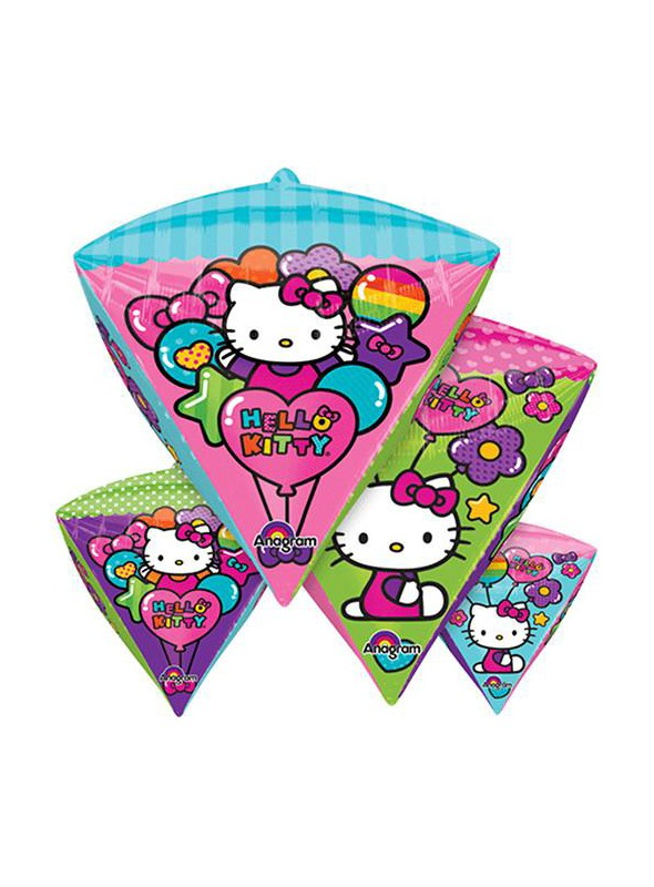 Balão Metalizado Hello Kitty Diamondz – 1 unidade