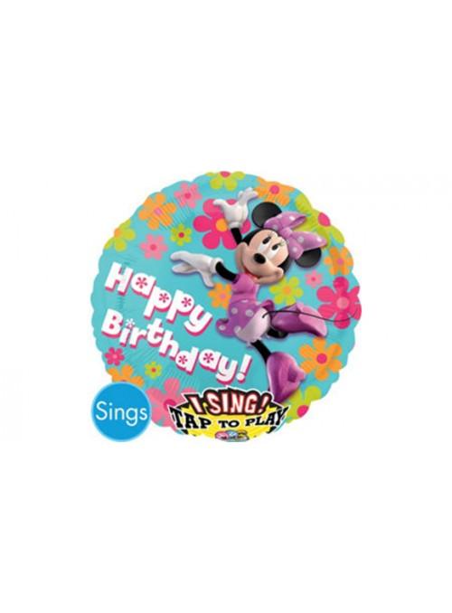 Balão Metalizado Musical Minnie – 1 unidade