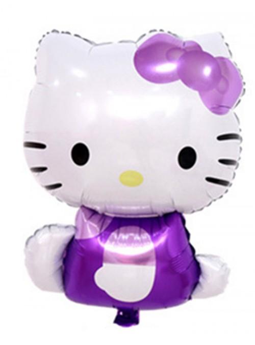 Balões Metalizados Hello Kitty Lilás – 5 unidades