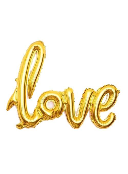 Balão Metalizado Love Dourado – 1 unidade
