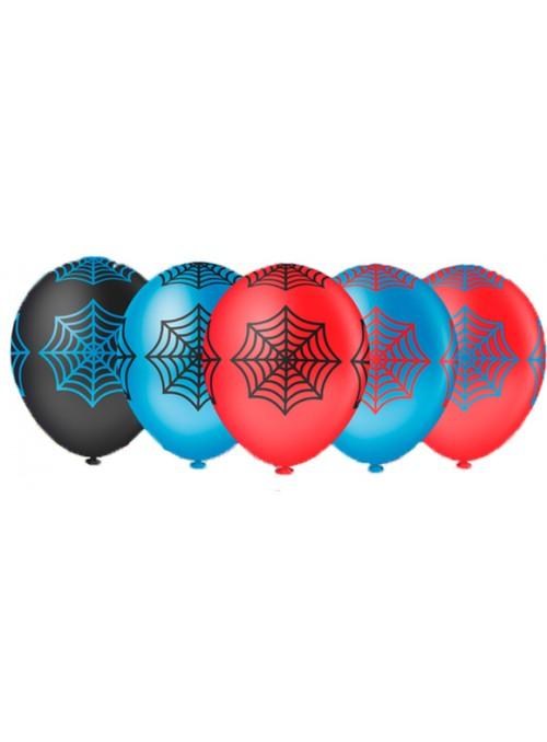 Balões de Látex Teia de Aranha Sortidos - 25 unidades