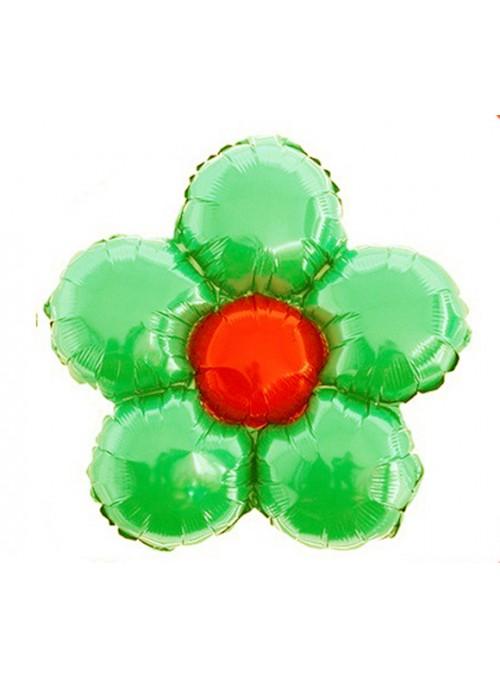 Balões Metalizados Flor Verde – 6 unidades