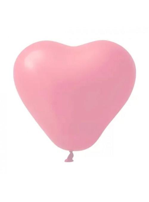 Balões de Látex Coração Rosa Bebê 10 Polegadas – 25 unidades