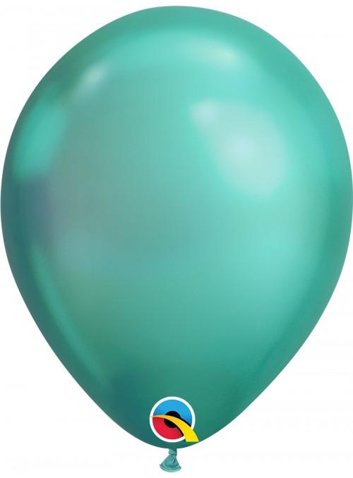 Balões de Látex Verde Chrome - 5 unidades