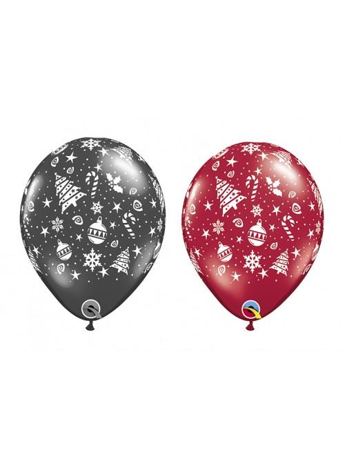 Balões de Látex Natal Sortidos - 10 unidades