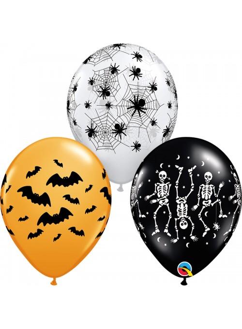 Balões de Látex Halloween 2 Sortidos - 10 unidades