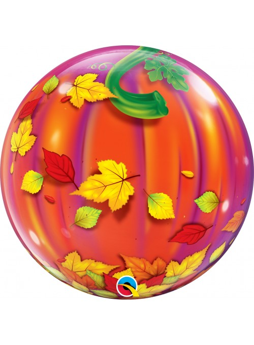 Balão Bubble Bolha Transparente Abobora Halloween – 1 unidade
