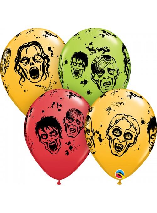 Balões de Látex Zumbis – 10 unidades