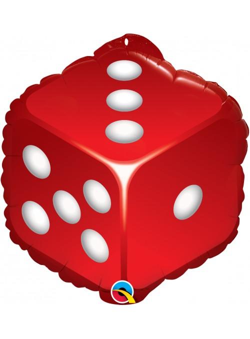 Balão Bexiga Metalizada Dados Cassino – 1 unidade