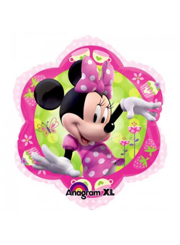 Balão Bexiga Metalizada Flor Minnie – 1 unidade