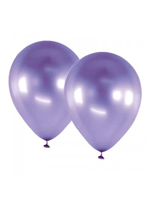 Balões Bexigas De Látex Alumínio Roxo 9 Polegadas – 25 unidades
