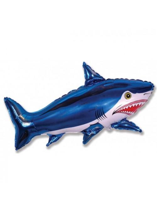 Balão Bexiga Metalizado Tubarão – 1 unidade