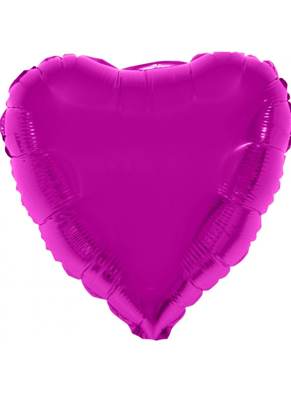 Balão Bexiga Metalizada Coração Rosa 32 Polegadas – 1 unidade