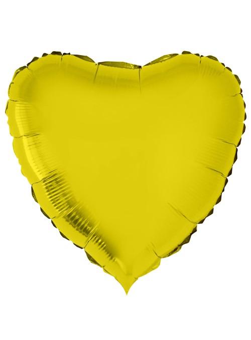 Balão Bexiga Metalizada Coração Dourado 32 Polegadas – 1 unidade