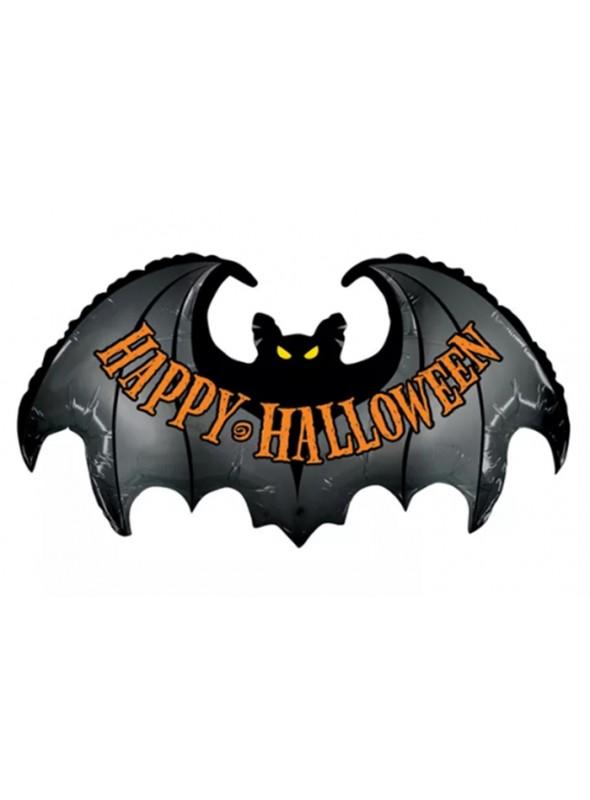 Balão Bexiga Metalizada Halloween Morcego – 1 unidade