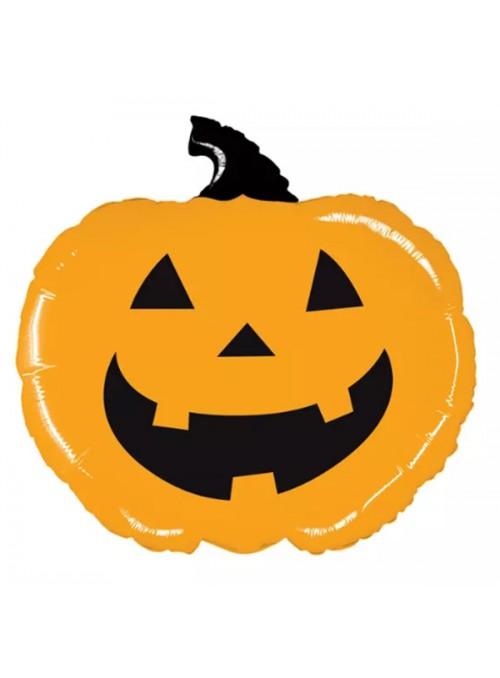 Balão Bexiga Metalizada Halloween Abobora – 1 unidade