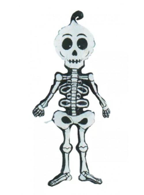 Balão Bexiga Metalizada Halloween Esqueleto Caveira – 1 unidade