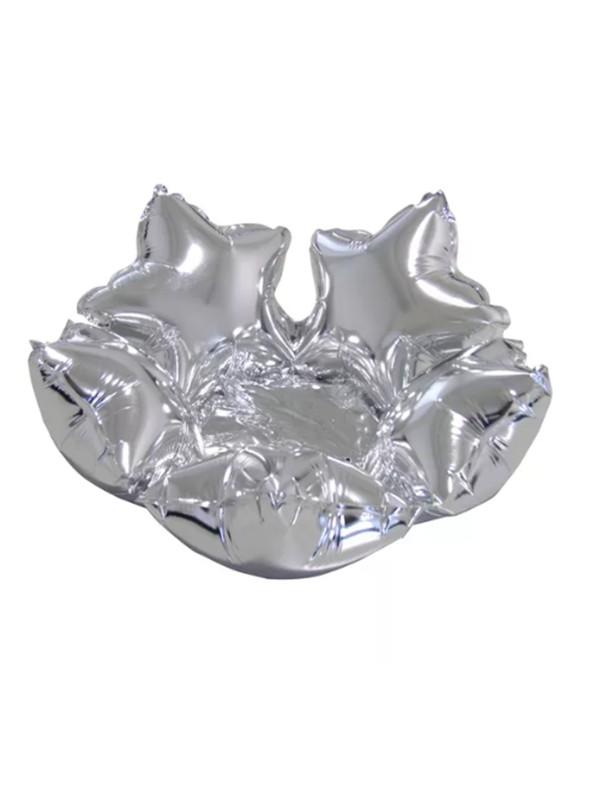 Balão Bexiga Metalizada Centro de Mesa Estrela Prata– 1 unidade