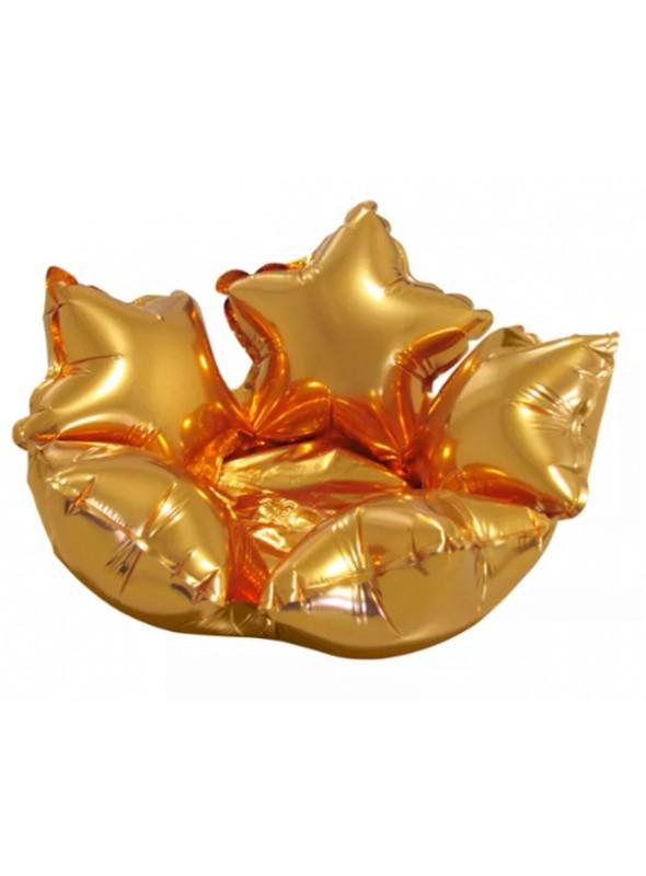 Balão Bexiga Metalizada Centro de Mesa Estrela Dourado– 1 unidade