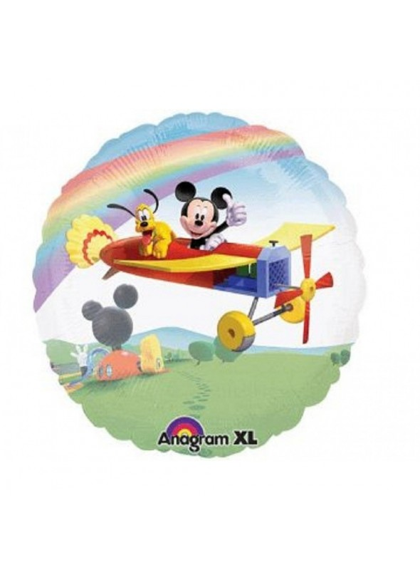 Balão Bexiga Bubble Transparente Mickey e Pluto – 1 unidade
