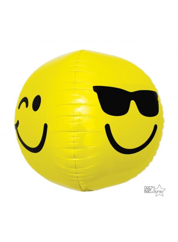 Balão Bexiga Metalizada Emojis 3D – 1 unidade