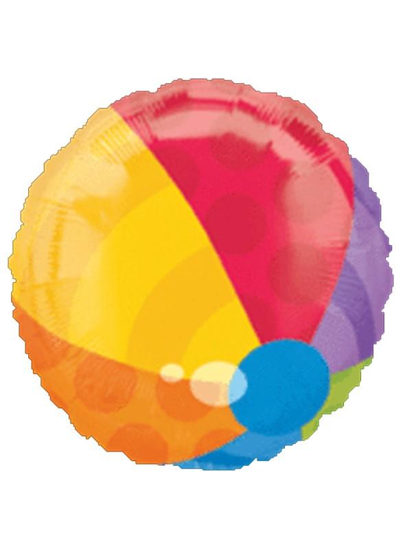 Balão Bexiga Metalizada Bola de Praia – 1 unidade