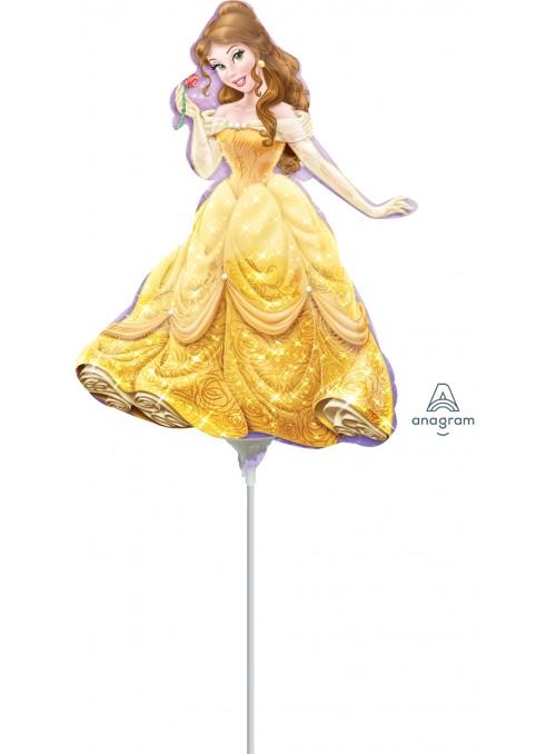 Balão Bexiga Metalizada Princesa Bela Tamanho P – 1 unidade
