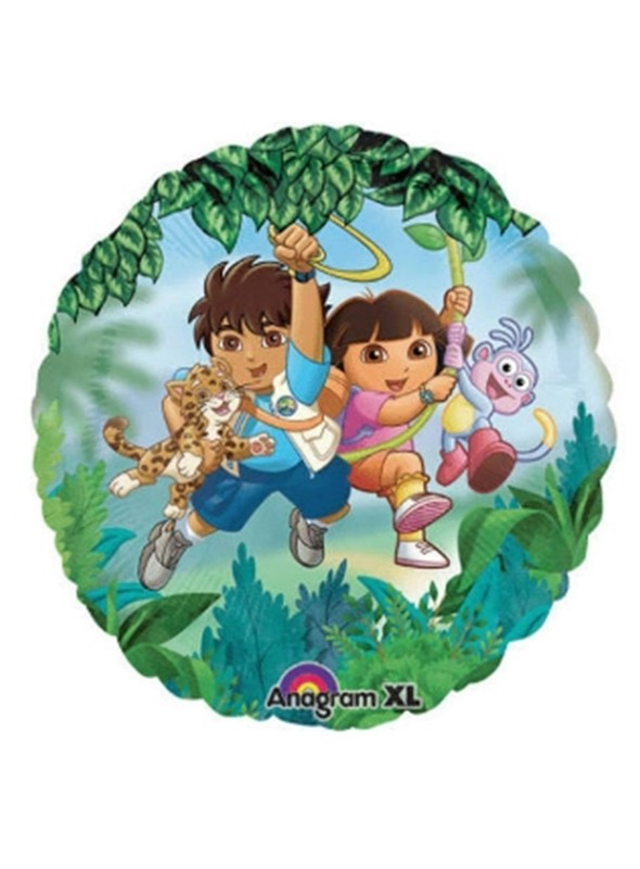 Balão Bexiga Metalizada Dora e Diego – 1 unidade