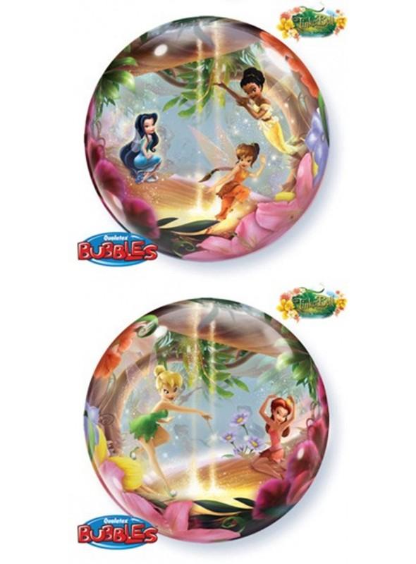 Balão Bexiga Bubble Transparente Sininho – 1 unidade