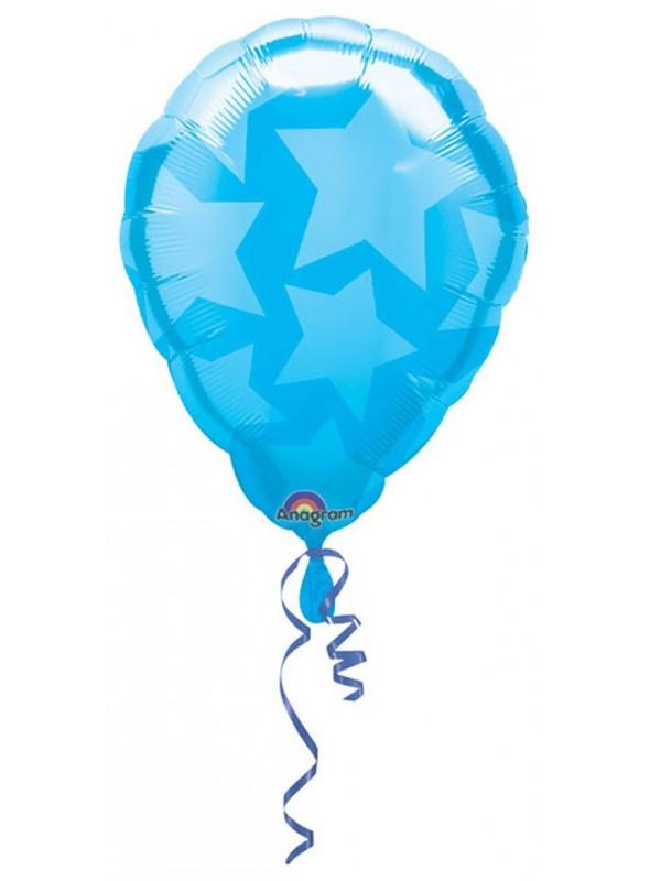 Balão Bexiga Metalizada Ar Quente Azul – 1 unidade