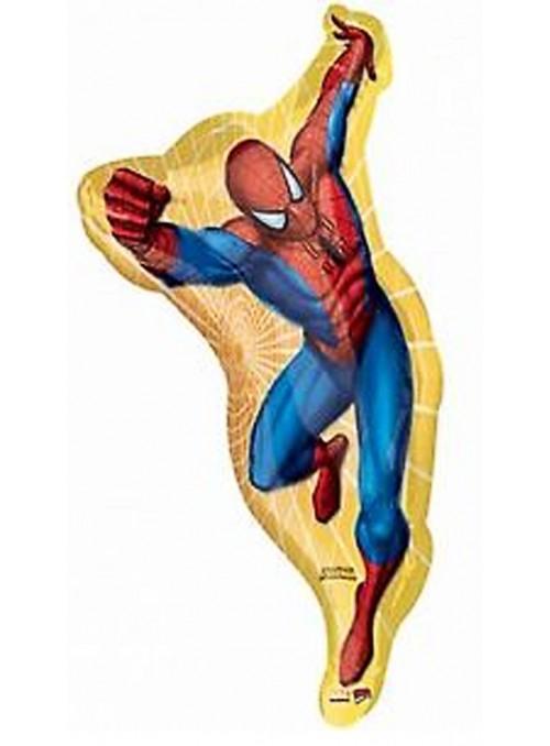 Balão Bexiga Metalizada SuperShape Homem Aranha – 1 unidade
