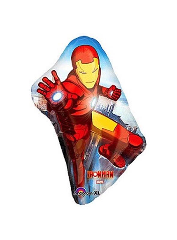 Balão Bexiga Metalizada Homem de Ferro – 1 unidade