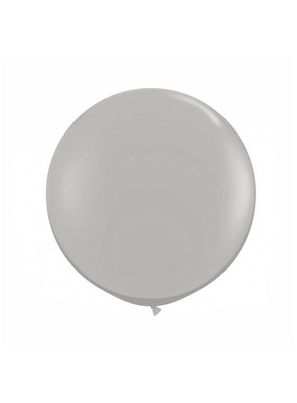 Balão Bexiga de Látex Gigante Metalizada Prata 36 Polegadas – 1 unidade