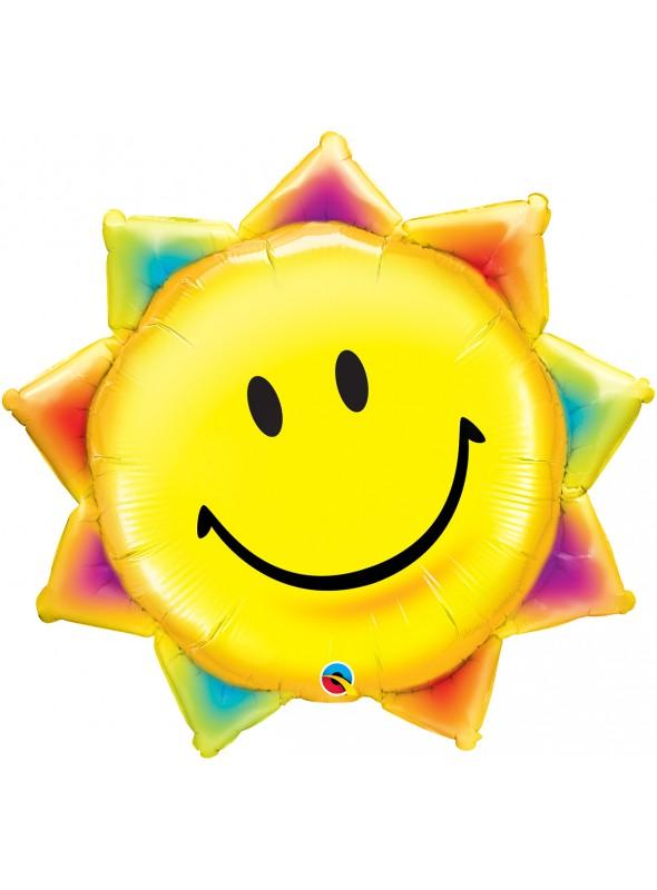 Balão Bexiga Metalizada Sol Sorridente – 1 unidade
