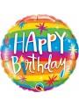 Balão Bexiga Metalizada Aniversário Arco-Íris 18 Polegadas 46cm Qualatex