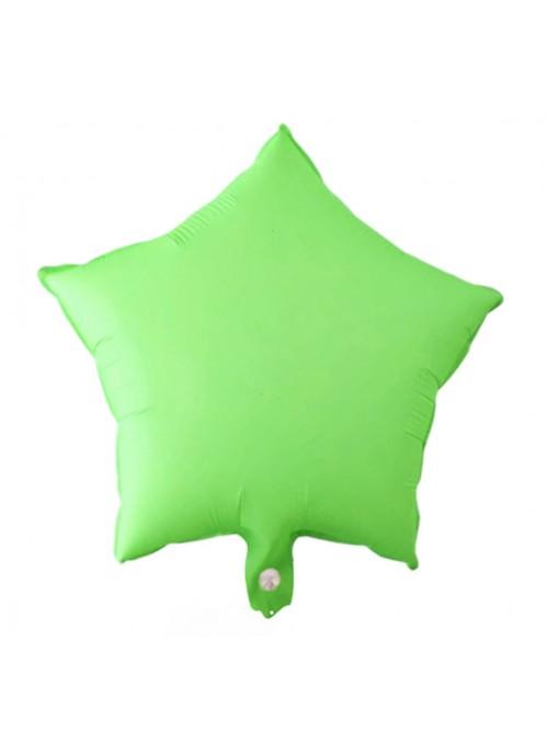 Balões Bexigas Metalizadas Estrela Néon Verde – 5 unidades