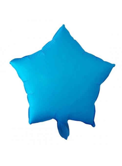 Balões Bexigas Metalizadas Estrela Néon Azul – 5 unidades