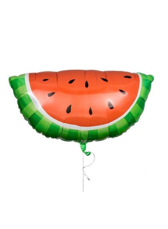 Balão Bexiga Metalizada Fruta Melancia Fatia – 1 unidade