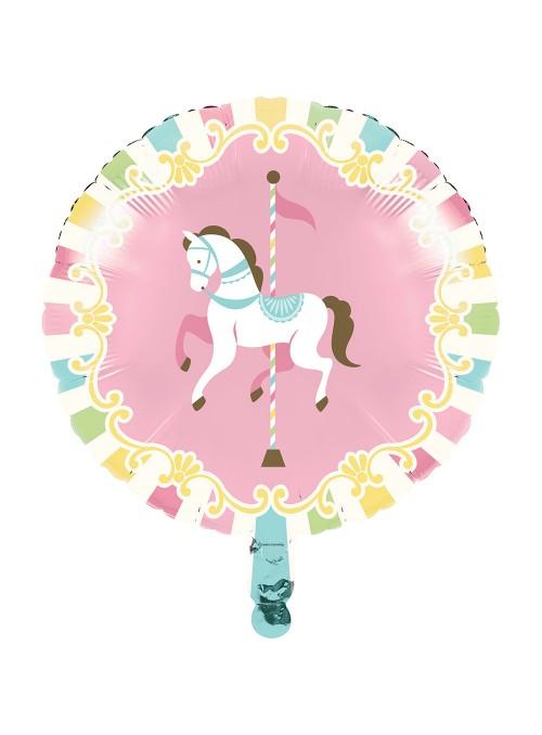 Balão Bexiga Metalizada Cavalo Carrossel – 1 unidade