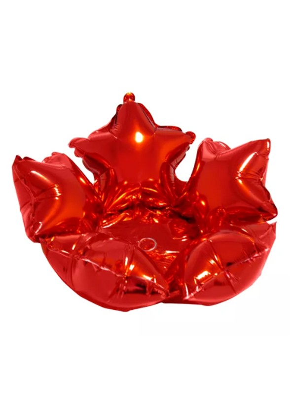 Balão Bexiga Metalizada Centro de Mesa Estrela Vermelho– 1 unidade
