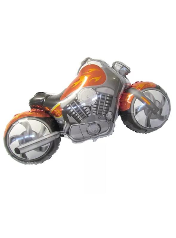 Balão Metalizado Moto Laranja – 1 unidade